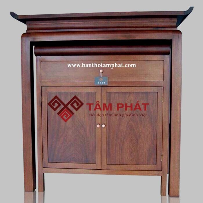Bàn thờ gỗ Tâm Phát BT-1021 mang kiểu dáng chữ Thọ độc đáo, ấn tượng