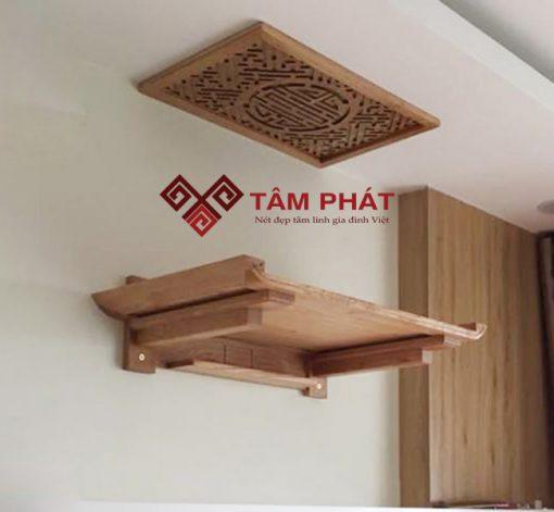 Bàn thờ treo tường mẫu TT2006 thích hợp với các căn hộ chung cư