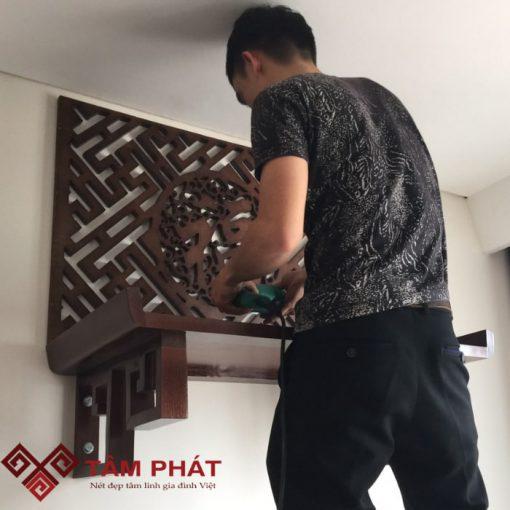 Kích thước bàn thờ treo Tâm Phát được thực hiện dưới quy trình nghiêm ngặt, chuẩn và chất lượng