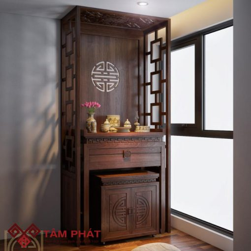 Mẫu bàn thờ đẹp BT – 1026 của Tâm Phát rất phù hợp với không gian sống của các căn chung cư