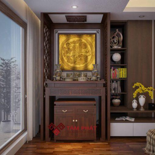 Mẫu bàn thờ đẹp BT – 1028 Tâm Phát phù hợp với căn hộ chung cư