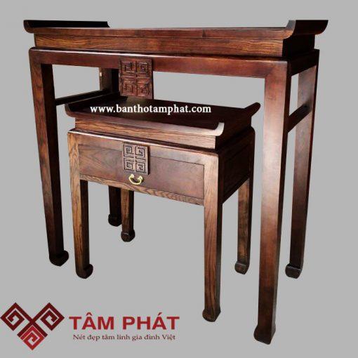 Mẫu bàn thờ gỗ mít BT-1009 đơn giản, hiện đại