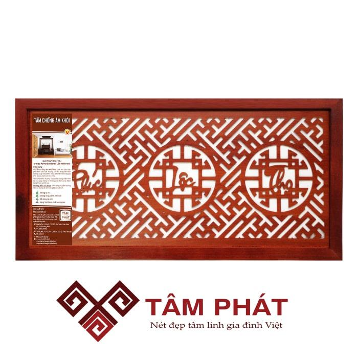 Tấm chắn khói tại Hà Nội kích thước 41x81 Phúc – Lộc – Thọ (Việt) – Nâu mang vẻ đẹp hoàn hảo, trang nghiêm