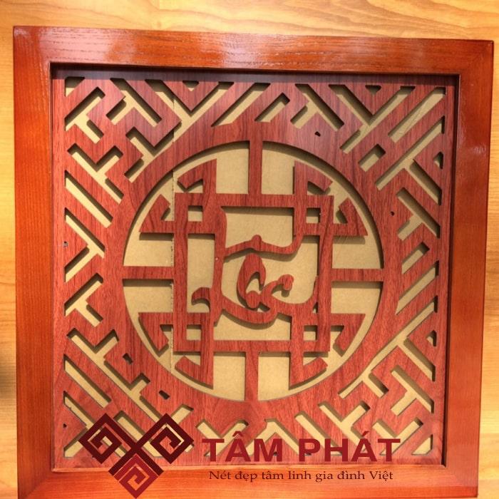 Tấm chống ám khói bàn thờ chữ Lộc