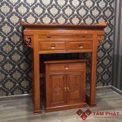 bàn thờ gia tiên gỗ gõ