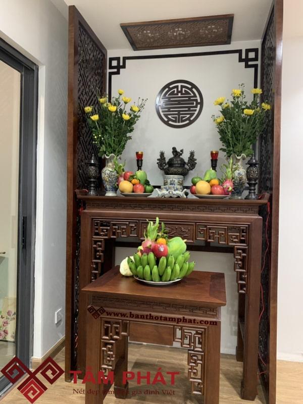Mẫu bàn thờ nhà chung cư đẹp giá rẻ Tâm Phát