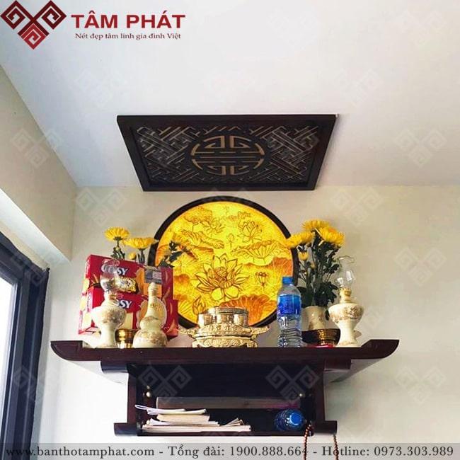 Bàn thờ treo tường mẫu TT2002 kết hợp tranh trang trí
