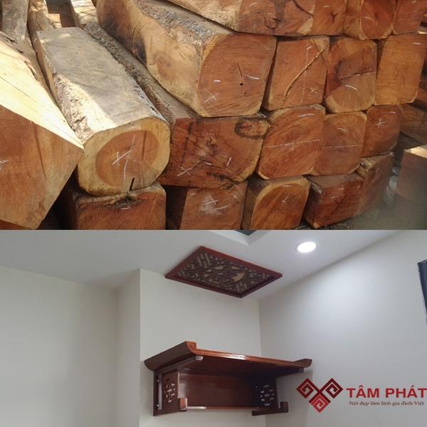 Bàn thờ treo gỗ Gụ