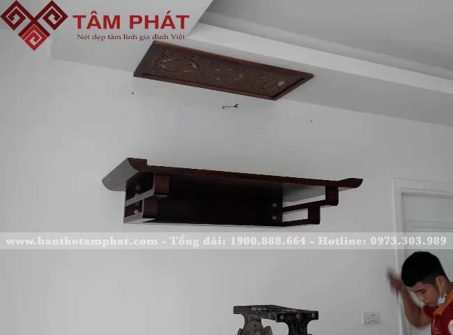 Bàn thờ treo kích thước 61x107 gỗ Gụ