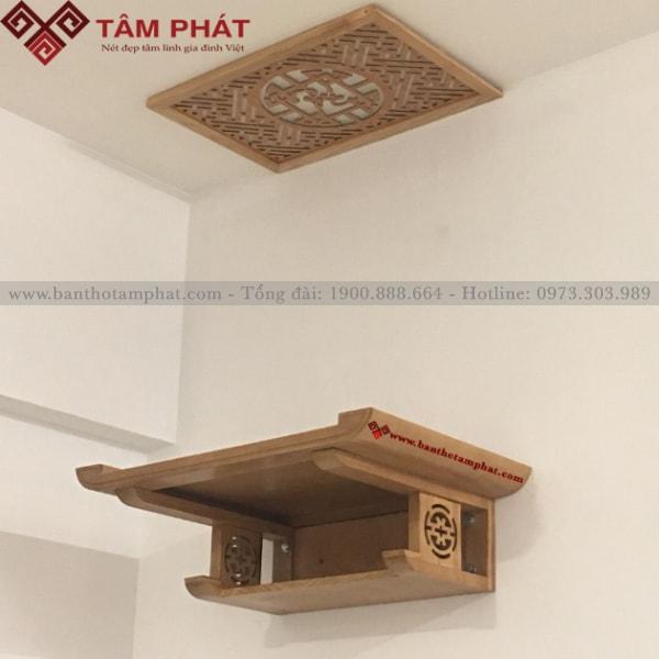 Không gian gia đình thêm trang trọng, ấn tượng hơn nhờ mẫu bàn thờ TT2032