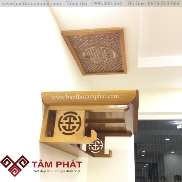 Lắp đặt bàn thờ gỗ mít cho nhà chung cư
