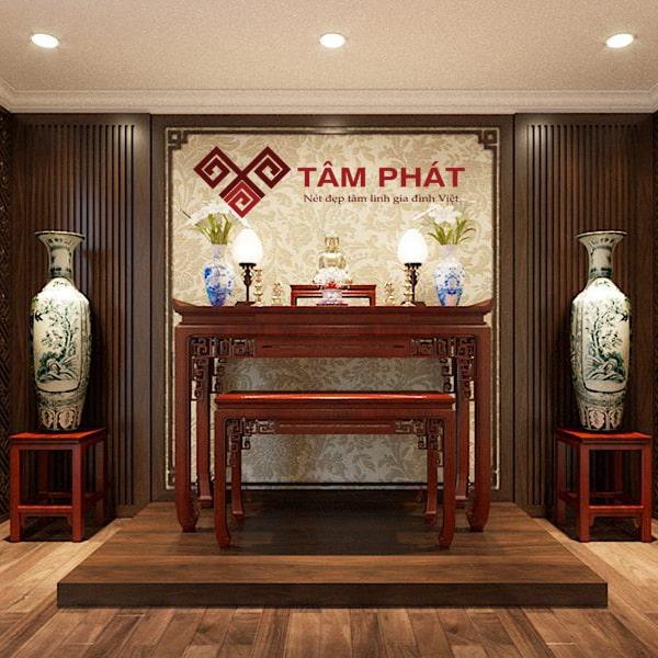 Bàn thờ Tâm Phát cho không gian phòng thờ thêm uy nghiêm