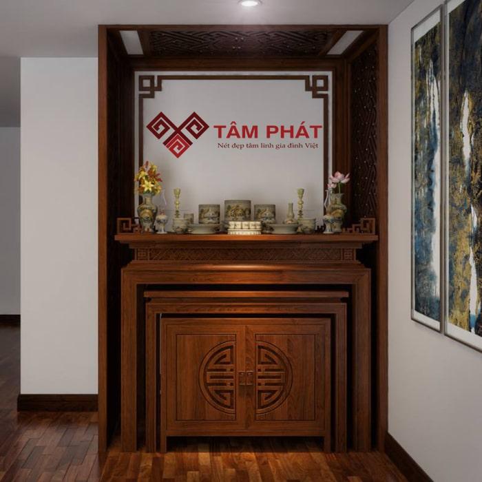 Bàn thờ gỗ Mít có độ bền cao, nhất là khi được xử lý chuẩn kỹ thuật