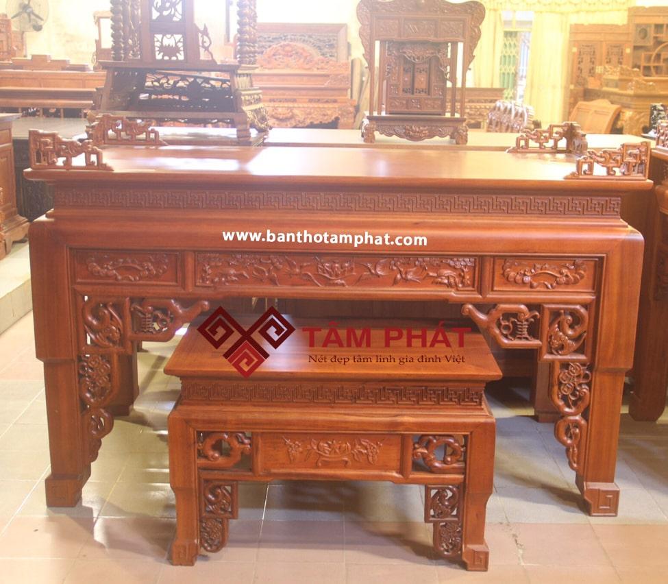 Bàn thờ gỗ hương Tâm Phát đạt chuẩn chất lượng tốt nhất