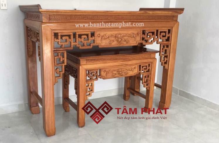 Bàn thờ gỗ hương là dòng sản phẩm cao cấp, sang trọng bậc nhất hiện nay