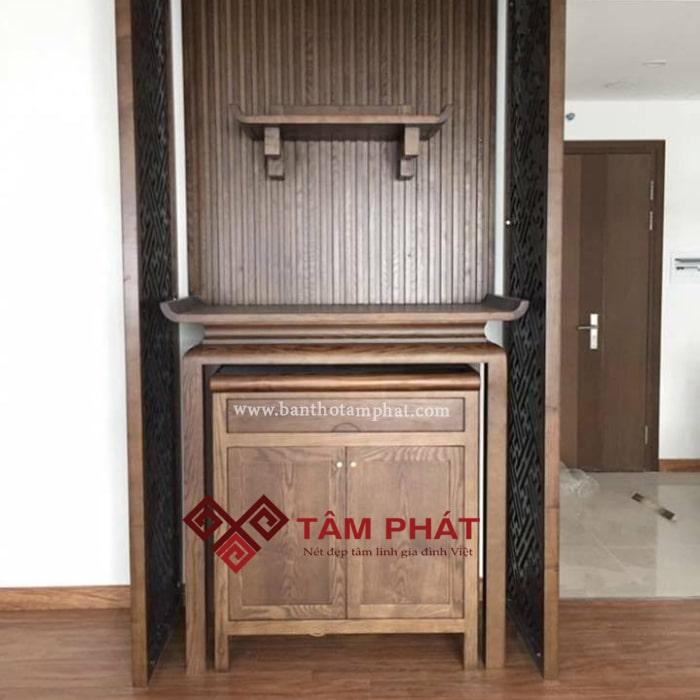 Bàn thờ gỗ sồi Tâm Phát đáp ứng tiêu chuẩn chất lượng nghiêm ngặt