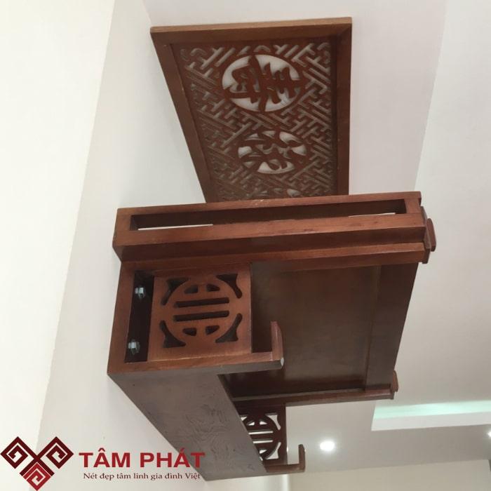 Bàn thờ treo gỗ Sồi Tâm Phát có chính sách bảo hành dài hạn