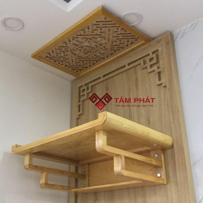 Thiết kế bàn thờ chung cư trang nhã và tối giản
