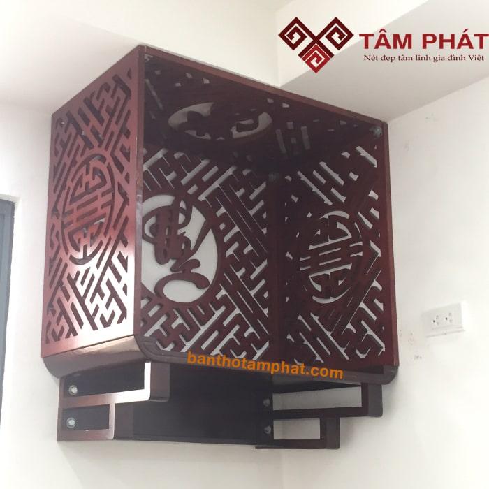Bàn thờ treo tường gỗ Gụ mẫu TTG2035 Tâm Phát