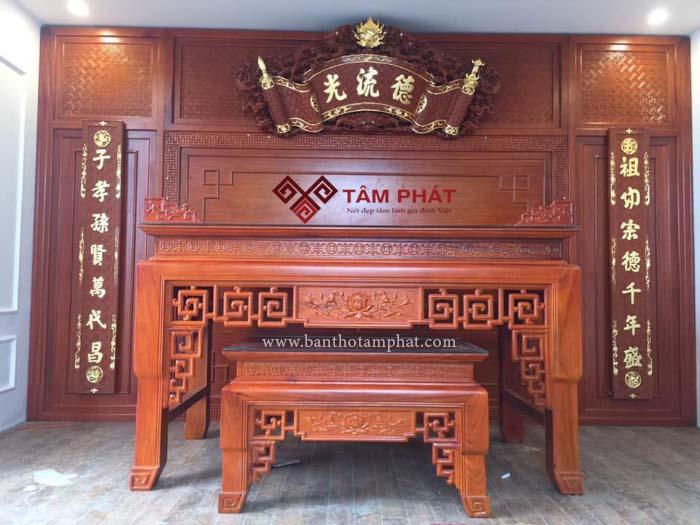 Điều đặc biệt của mẫu bàn thờ gỗ gõ BTGO-1037