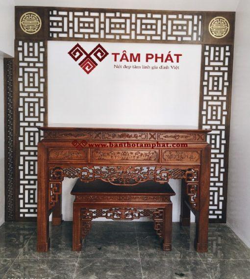 Mẫu bàn thờ gỗ gụ kích thước 81x175