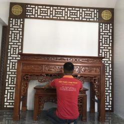 Mẫu bàn thờ chắc chắn và vững chãi cho phòng thờ gia tiên đẹp