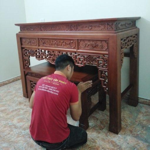 Mẫu bàn thờ đẹp BT-1024 thường được dùng cho phòng thờ riêng