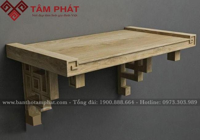 Mẫu bàn thờ treo có cấu tạo khá cầu kỳ