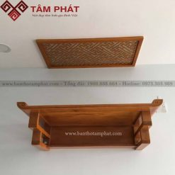Bàn thờ treo tường gỗ mít mang lại nhiều may mắn cho gia chủ