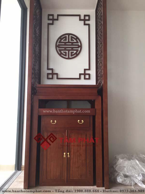 Mẫu bàn thờ cho nhà chung cư nhỏ Tâm Phát