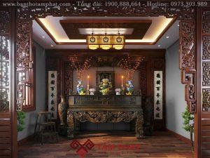 Bàn thờ gia tiên- nét đẹp tâm linh gia đình Việt