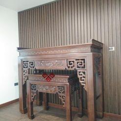 Mẫu bàn thờ kích thước lớn thường dùng cho phòng thờ