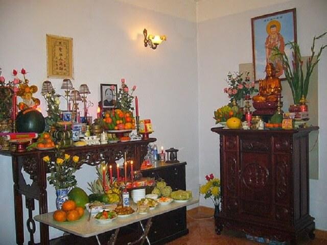 Tranh Phật treo bàn thờ đẹp