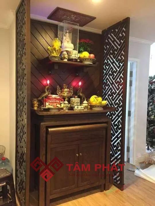 Bàn thờ Phật kết hợp với bàn thờ gia tiên cho nhà chung cư