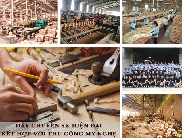 Xưởng sản xuất với máy móc hiện đại