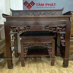 Bàn thờ gỗ đẹp BT-1063 được làm bằng gỗ gụ nhị cấp