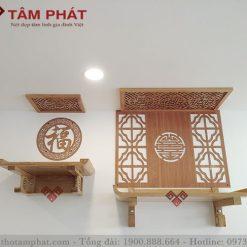 Mẫu bàn thờ kết hợp thờ Phật và gia tiên