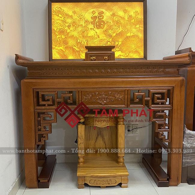 Bàn thờ gỗ Gụ mẫu BT-1068 sang trọng, giá rẻ