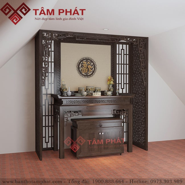 Mẫu bàn thờ đơn giản cho nhà chung cư