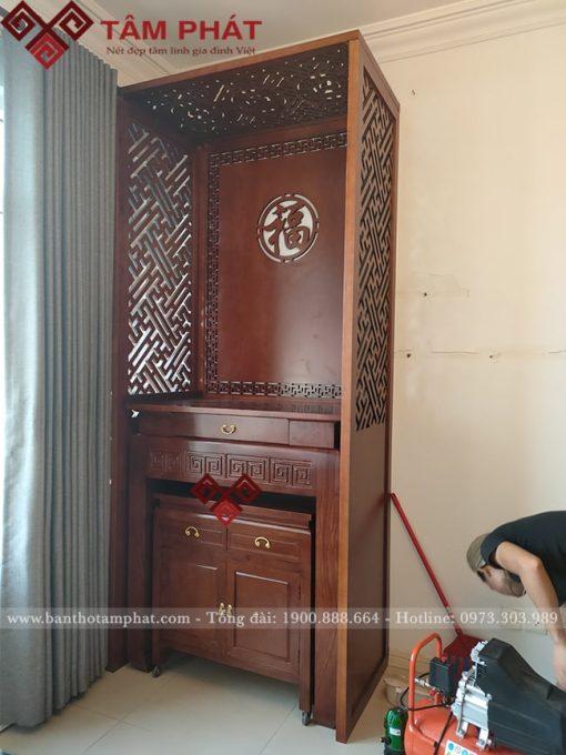 Mẫu bàn thờ BT-1015 rất phù hợp với căn hộ chung cư
