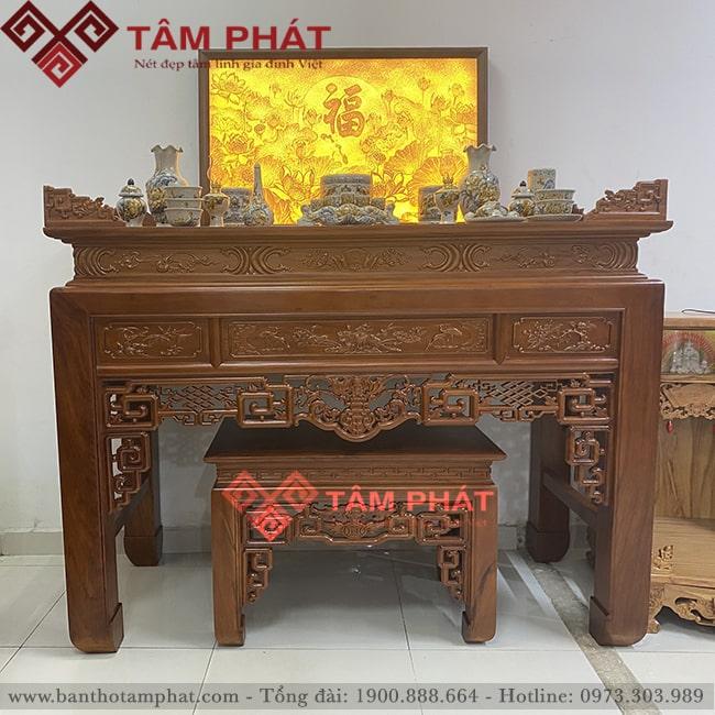 tủ thờ gỗ Gõ mẫu BT-1082