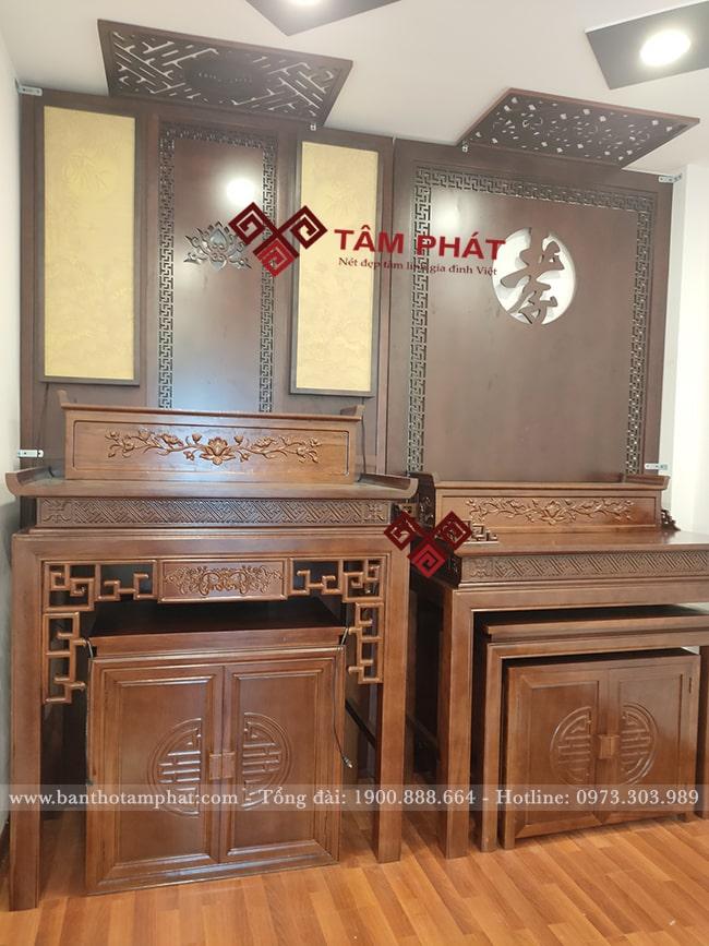 Nếu nhà có không gian rộng có thể làm 2 bàn thờ tách biệt
