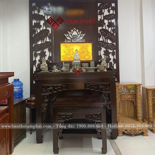 Bàn thờ Phật kết hợp với thờ gia tiên