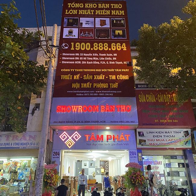 Cửa hàng Tâm Phát bán bàn thờ Thần Tài Thổ Địa