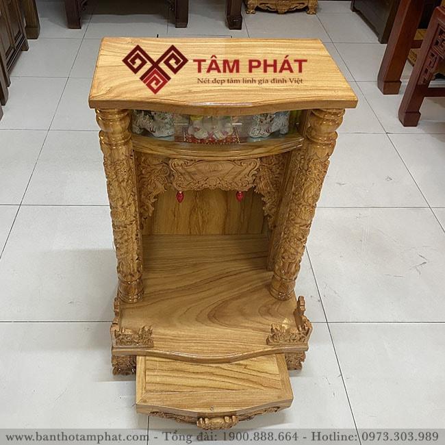 Mẫu bàn thờ thần tài BTT-3302 với ngăn kéo tiện dụng