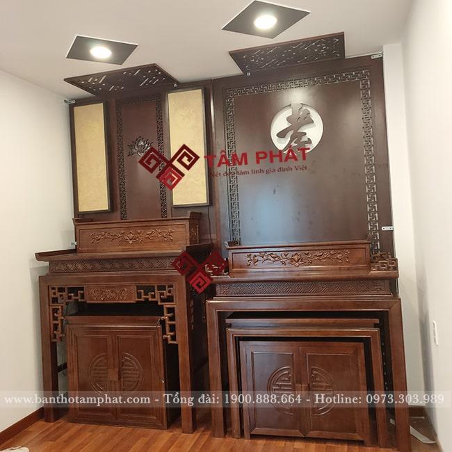Mẫu bàn thờ TB-1008 sử dụng trong phòng thờ Phật và gia tiên