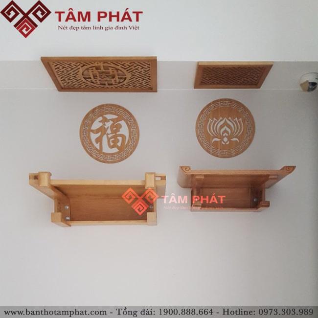Bàn thờ treo TT2014 gỗ Sồi màu sáng