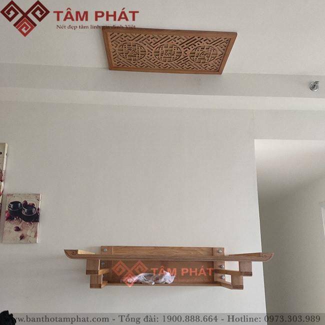 Bàn thờ treo tường Hà Nội của Tâm Phát mẫu TT2011 đem đến sự hiện đại và trang nhã bất ngờ