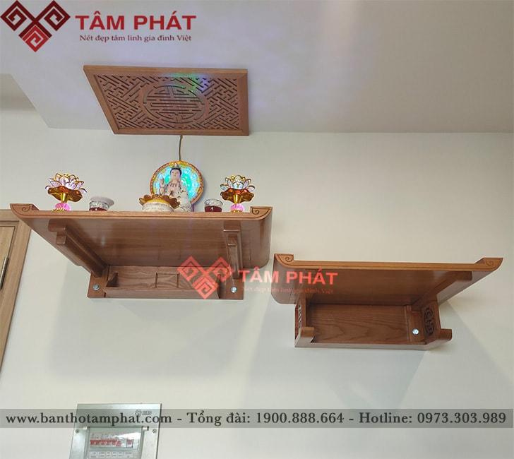Bàn thờ treo 2 tầng thờ Phật và thần linh