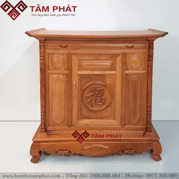 Mẫu tủ thờ đẹp đơn giản tại cửa hàng Tâm Phát